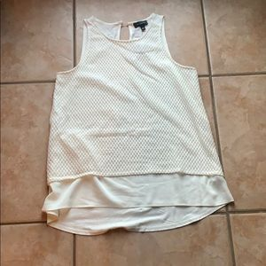 3/$30 NWT The Limited Cream Lace Texture Tank SM